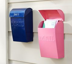 Mailboxes | Pottery Barn Kids  - Personalized Mail Boxes for the girls