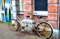 bicycle built for 2 in amsterdam by lhamlyn, via Flickr
