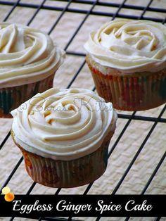 Eggless Ginger- Spice Cupcake