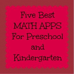 Best Math Apps for Pre-K & K