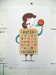 Bingo print from The Boy Frost