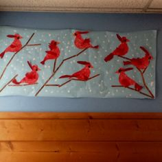 Winter cardinals. Done by my preschool class. :)