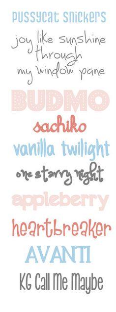 word fonts free, idea, font collect, crafti, stuff, free font, fun, diy, design