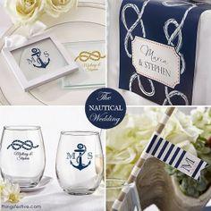 Anchors Away: Nautical Wedding Favors & Decor #nautical #wedding #favors #decor