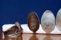vintage spoon napkin rings