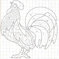 mosaic chicken | 316kb pdf rooster pattern is here : McCall's Magazine Rooster ...