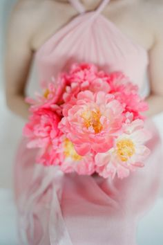 perfect pink peonies! Photography By / http://elizabethmessina.com