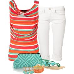 Aqua and Orange :)