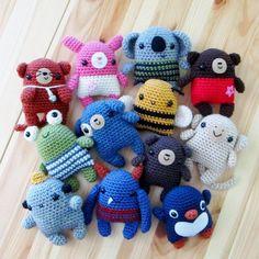 Amigurumi #Crochet Cuties Pattern via Etsy's AnaPaulaOli