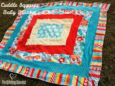 Cuddle Squares Baby Blanket pattern by @thestitchingscientist Cuddle Squares Baby Blanket by @TheStitchingScientist www.thestitchingscientist.com - Free Pattern. Features Crazy for Daisies Cuddle by @ADORNit http://shannonfabrics.com/blog/2014/03/28/cuddle-squares-baby-blanket/ #cuddle #cuddlesquaresbabyblanket