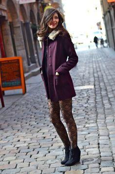 <3 Burgundy coat