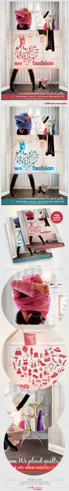 fashion flyer, flyer templat, thriftresal shop, shop signag, print templat