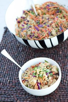Asian inspired quinoa salad