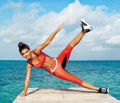 Pumped-Up Planks: Start in side plank for this 'Side Plank Toe Touch' move, which works shoulders, hips, abs, obliques #SelfMagazine