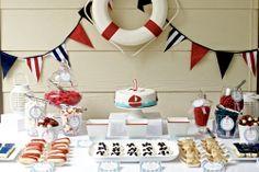 love this dessert table by jordan of polkadot prints