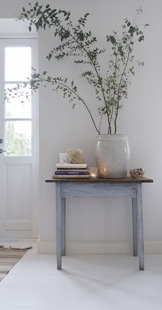 simple rustic table made pretty