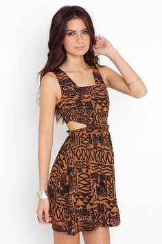 tribal cutout dress