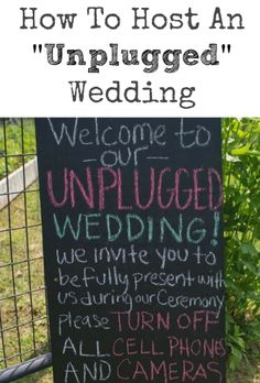 How To Host An Unplugged Wedding