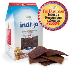 indigo Smokehouse Strips™ are #dog jerky treats MADE IN THE #USA with #fresh, premium cuts of meat!