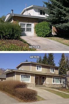 Exterior Home Renovations On Pinterest Split Level Remodel Home Exterior M