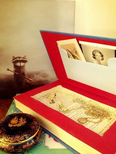 DIY box made from a vintage book