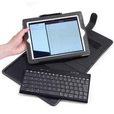 The iPad Keyboard Portfolio - Hammacher Schlemmer