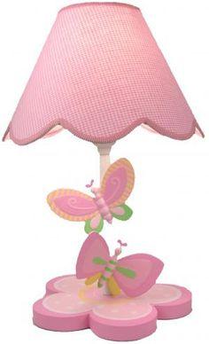 and ivy bright butterfly lamp nursery set nursery room room decor. Black Bedroom Furniture Sets. Home Design Ideas