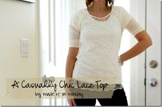 lace top tutorial for winter whites