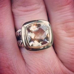 Champagne Citrine 11mm Albion Ring by David Yurman