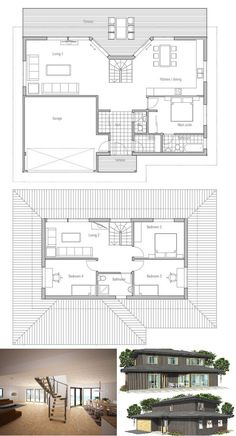 House plans on pinterest contemporary house plans house plans and floor plans - Three family house plans cost efficient choices ...