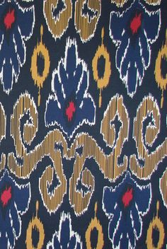 Ikat is still everywhere in New York. I happen to be quite taken with Raja - Indian Blue from Lacefield.