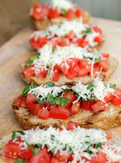 10 different types of Bruschetta.