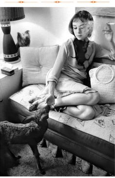 Audrey Hepburn was an animal lover and had a pet fawn for a while in the 50's!