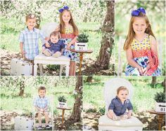 spring mini session apple blossoms Michigan abby jayne photography family siblings blooms flowers kids