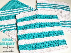 Homemade Knitted Washcloths and a Free Printable - such a fun simple gift!