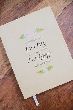 guest book from @Anna Bond // photo by Our Labor of Love by Heidi http://ruffledblog.com/atlanta-arts-center-wedding #guestbook #weddingideas #riflepaperco