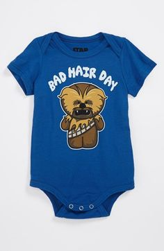 Mighty Fine 'Bad Hair Day' Bodysuit (Baby Boys) available at #Nordstrom