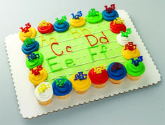 ABC Cupcake Cake, LOVE THIS CAKE! Perfect for school parties, or even for a gift for a teacher! So gonna try this recipe!