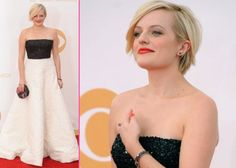 Growing out a pixie cut - Elisabeth Moss Emmys 2013