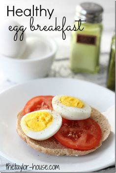 Healthy Egg Breakfast option that's simple to make and a great way to get you moving in the morning!