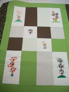Great Notions - Floriani Stacked Animals embroidery on a baby quilt