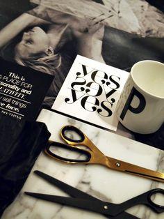 Black & White + Gold