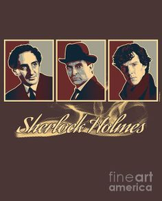 Sherlock Trilogy X3 - Rustic by ©ifourdezign - PLEASE DO NOT EDIT OR REPIN UNCREDITED #SherlockHolmes #VectorArt #Posterized #FineArtAmerica