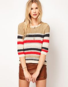 Striped Sweater by Pepe jeans.