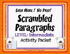 EVEN MORE!  No Prep!  Nuts and Bolts Scrambled Paragraphs