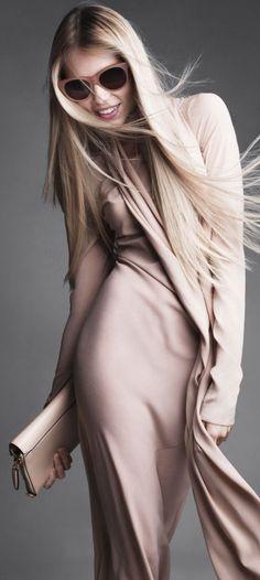 Vika Falileeva for US Harpers Bazaar (October 2012) by Victor Demarchelier