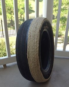 How to turn a tire into an ottoman!