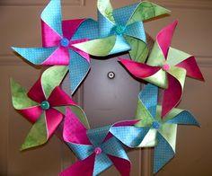 Fun Pinwheel Wreath