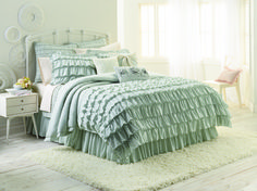 LC Lauren Conrad bedding collection sneak peek... soft ruffles... I neeeeeedd!