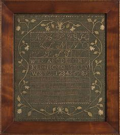 Patty Keyes, age 9, Westford, Massachusetts,Linsey-Woolsey Sampler, 1806 1806, needlework, thread, cross stitch, westford, antiqu sampler, vintag sampler, linen, embroideri